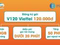 Cách đăng ký v120 khuyến mại của sim viettel